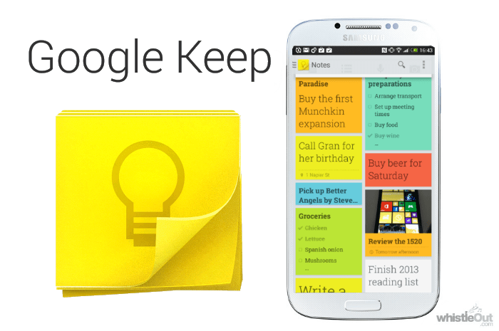 Google Keep App Preview Image